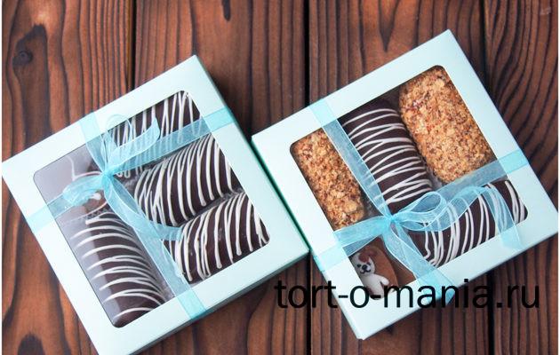 Мини-наборы пирожного «Картошка» ассорти, шоколадная «классик» + «блонди» с миндалем.