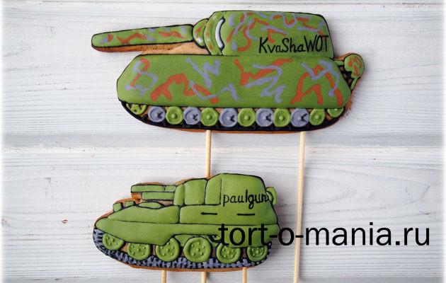 Пряничные топперы для торта World of Tanks