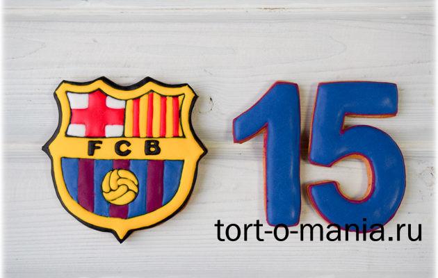 Пряники для торта ФК «Барселона»