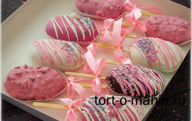 Эскимо пирожное-картошка «Розовая нежность»