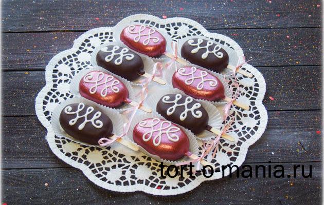 Шоколадное эскимо пирожное-картошка