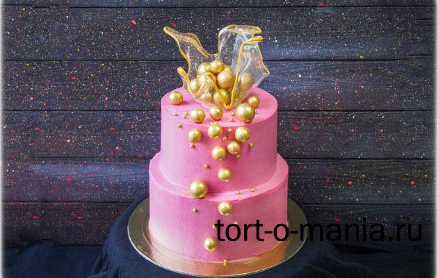 Торт «Розовое золото»