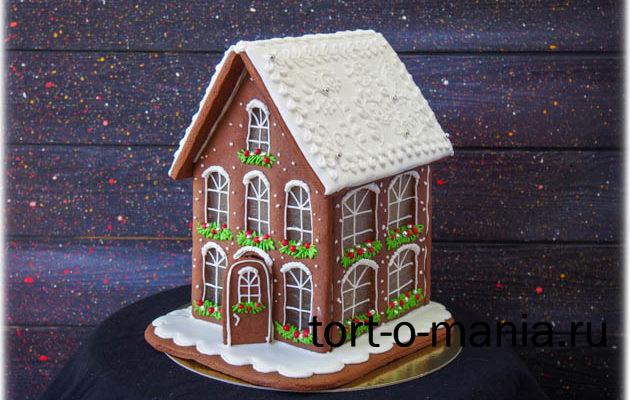 Двухэтажный пряничный домик