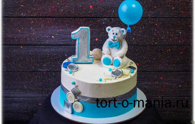 Торт с мишкой на годик