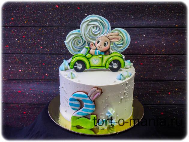 Торт для мальчика с зайкой
