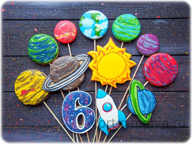 Пряники для торта «Планеты»