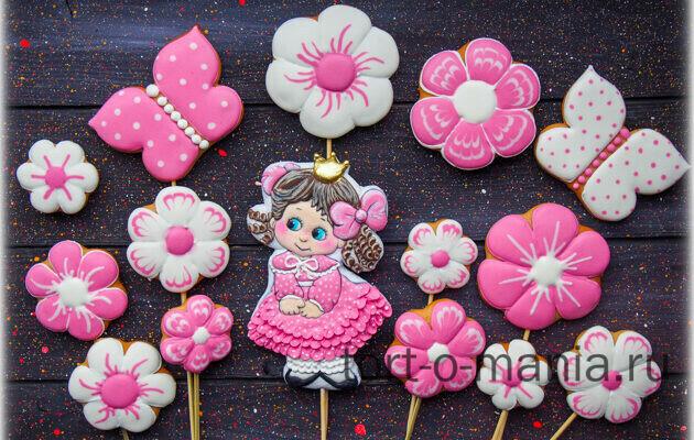 Пряники для торта «Принцесса»