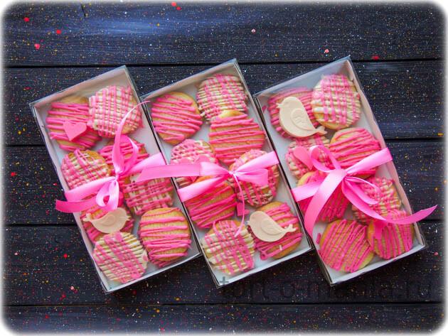 Песочное печенье с белым шоколадом