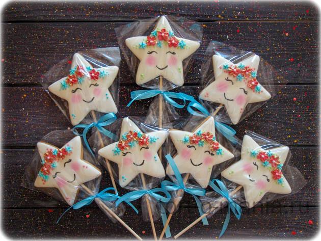 Пряники на палочках «Морские звезды»