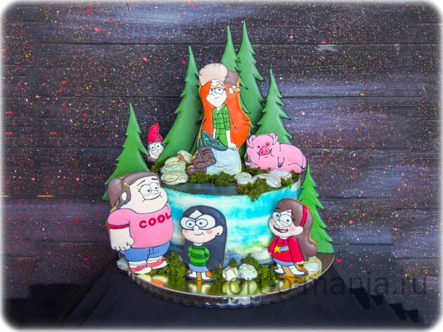 Торт  «Гравити Фолз»