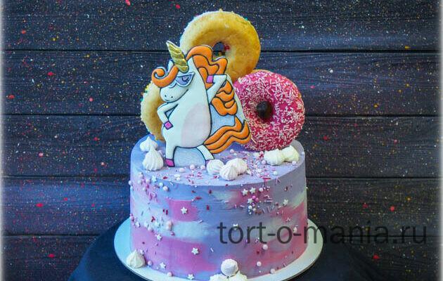 Торт Крутой единорог