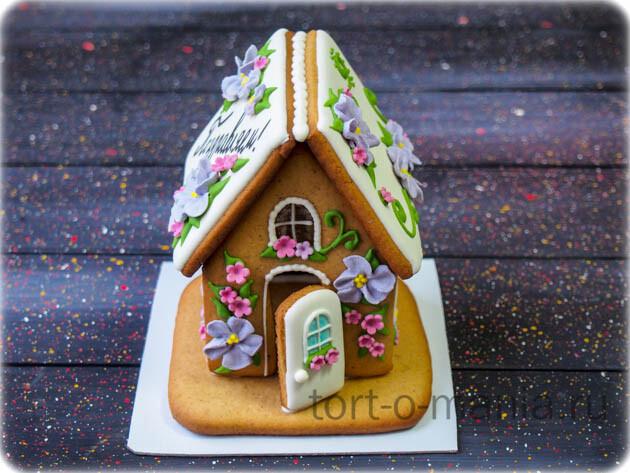 Пряничный домик с цветочками 2