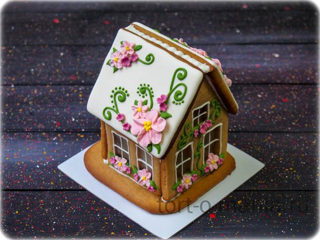 Пряничный домик с цветочками 3
