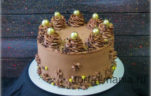 Шоколадный медовик в шоколадном кремчизе